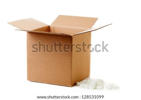 Shipping box - stock photo