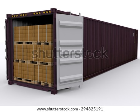 Shipping container isolated