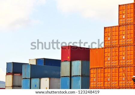 shipping containers - stock photo