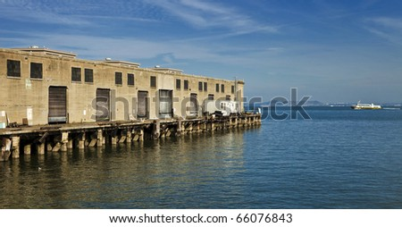 Shipping Dock on the Water