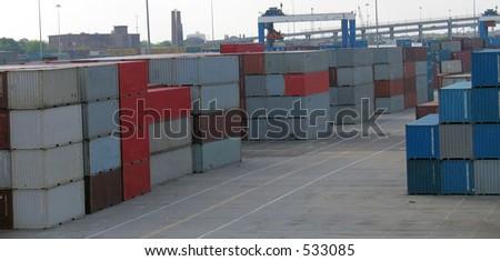 shipping field - stock photo