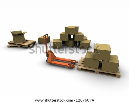 Shipping logistic zone - stock photo