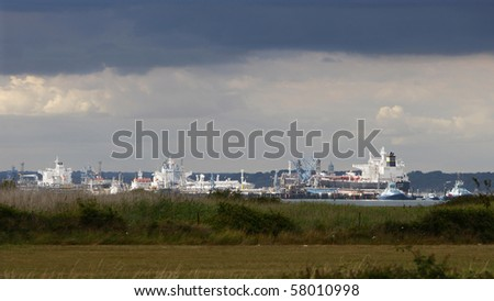 shipping outside southampton - stock photo