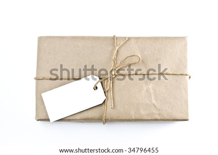 Shipping package sent through the mail