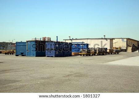 Shipping Receiving Area Outside Aerospace Plant - stock photo