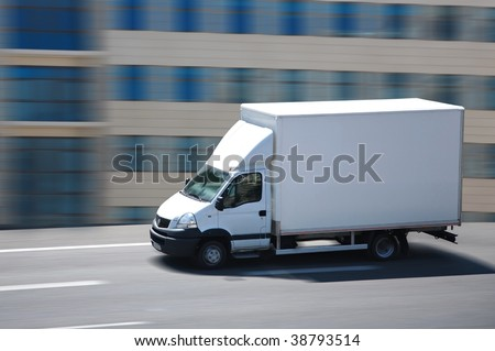 shipping truck - stock photo