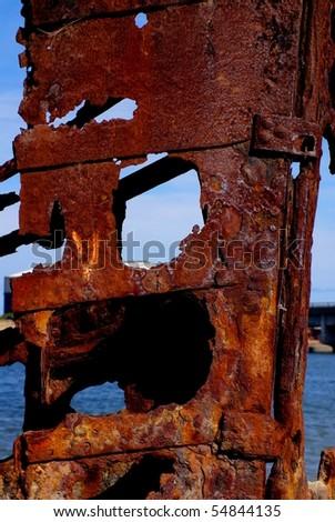 Ships' Graveyard, Garden Island - stock photo
