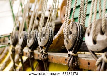 ships' rope - stock photo