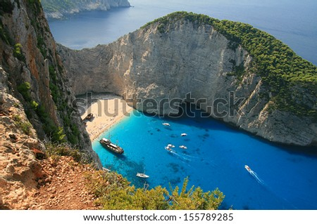 Shipwreck Bay, Zakynthos, Greece,
