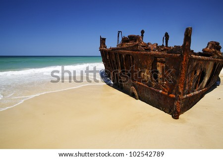 Shipwreck in Australia - stock photo