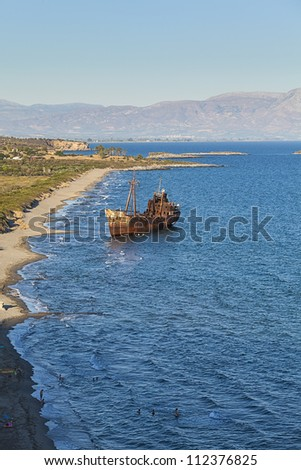 Shipwreck near Githeio,Greece