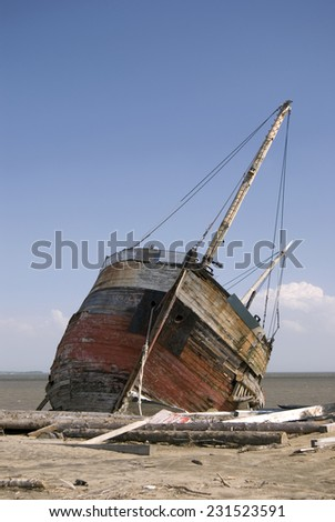 Shipwreck on a Beach