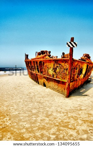 Shipwrecked - stock photo