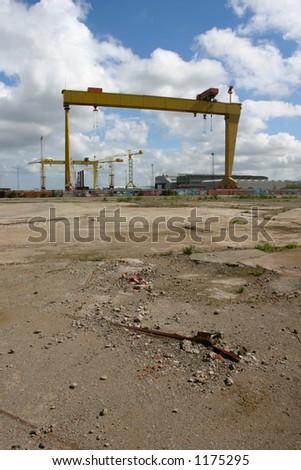 shipyard - stock photo