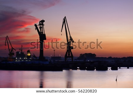Shipyard (Astillero.Spain) - stock photo