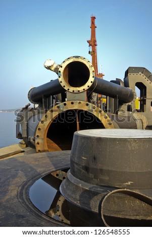 Shipyard parts - stock photo