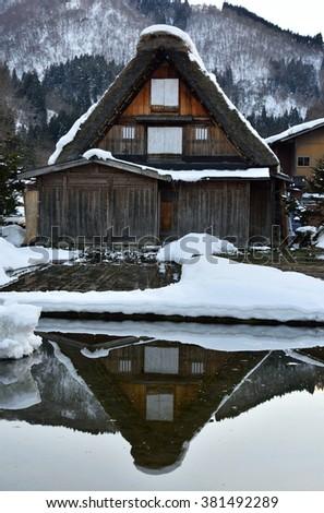 Shirakawa-go World Heritage Village, Japan - stock photo