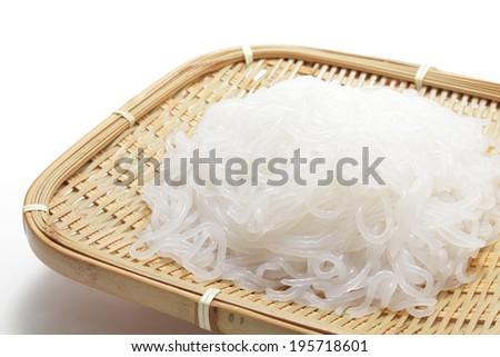 Shirataki noodle,  konjac   - stock photo