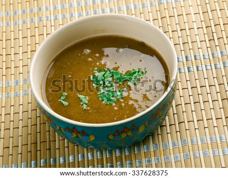 Shiro  - homogeneous stew chickpeas or broad bean . Ethiopian cuisine - stock photo