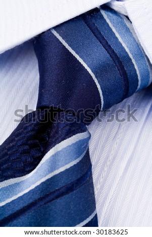 Shirt and Necktie close up shot - stock photo