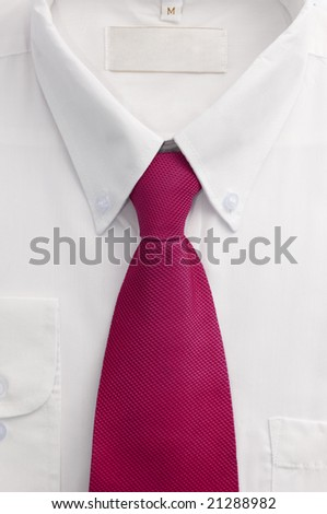 Shirt and tie close up - stock photo
