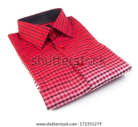 shirt. mens shirt folded on background