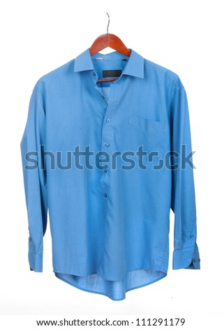 shirt on a hanger isolated - stock photo