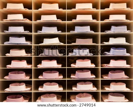 shirts in a rack - stock photo