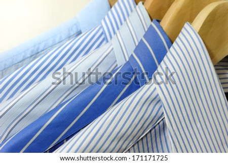 Shirts on Hangers - stock photo