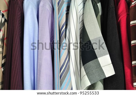 shirts texture - stock photo