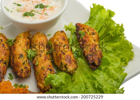 Shish kebab - traditional Indian cuisine