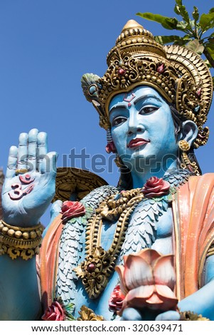 Shiva statue, hindu idol in Bali, Indonesia. Close up - stock photo