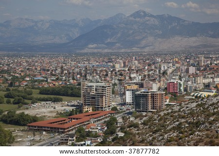 Shkoder, one of the major cities in Albania