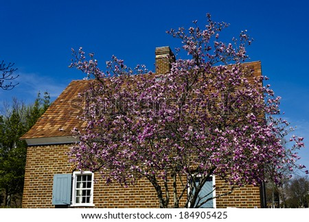 Shober House in Historic Old Salem Museum and Gardens - stock photo