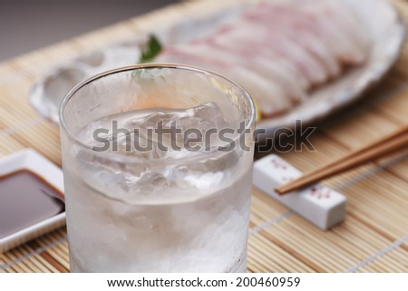 Shochu image - stock photo