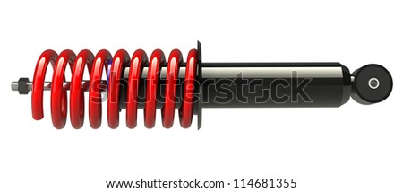 shock absorber isolated on white background. 3D render. - stock photo