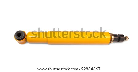 shock absorber. Isolated on white with clipping path