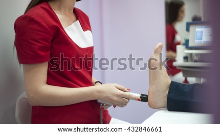 Shock wave therapy - stock photo
