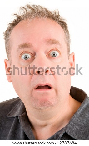 Shocked and Scared - stock photo