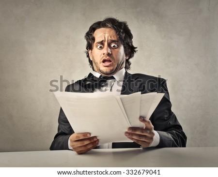 Shocked employee - stock photo