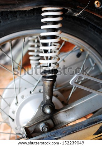 Shocker of motorcycle for loading