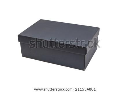 shoe box isolated on white - stock photo