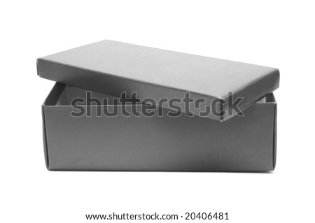 Shoe box on white - stock photo