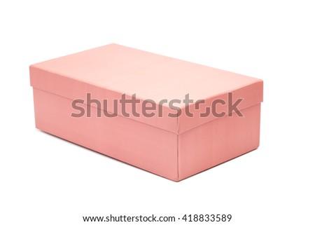 Shoe box on white background - stock photo