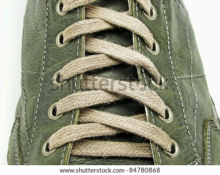 Shoe laces in close-up