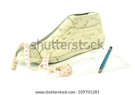 shoe maker pattern design in traditional way - stock photo