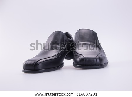 shoe or black color men's shoes on a background