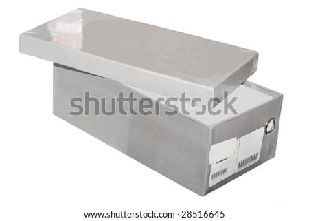 shoe's box under the white background - stock photo