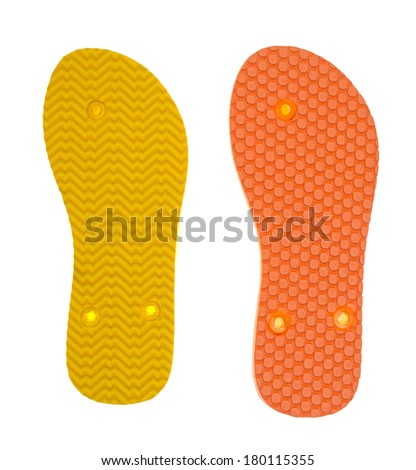 Shoe Sole Isolated on White Background.