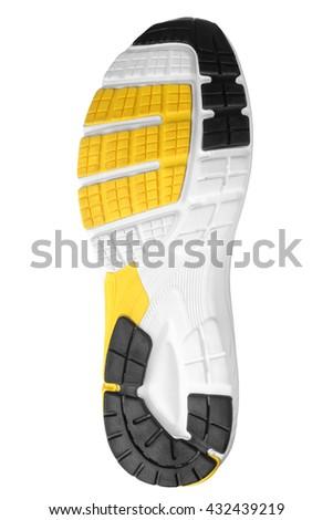 Shoe sole isolated on white background - stock photo